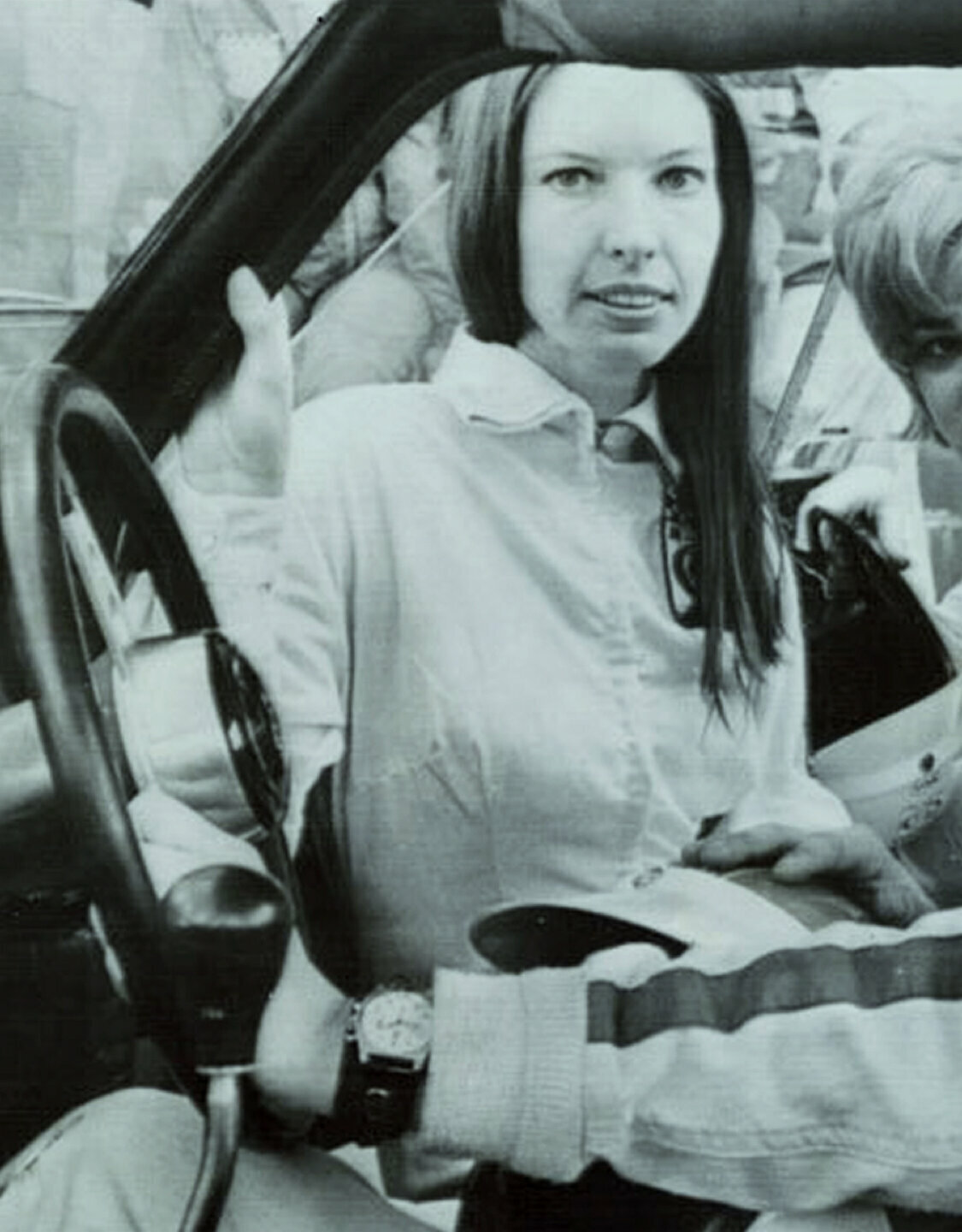 Janet Guthrie. Professional race car driver and the first woman to compete. 1972
