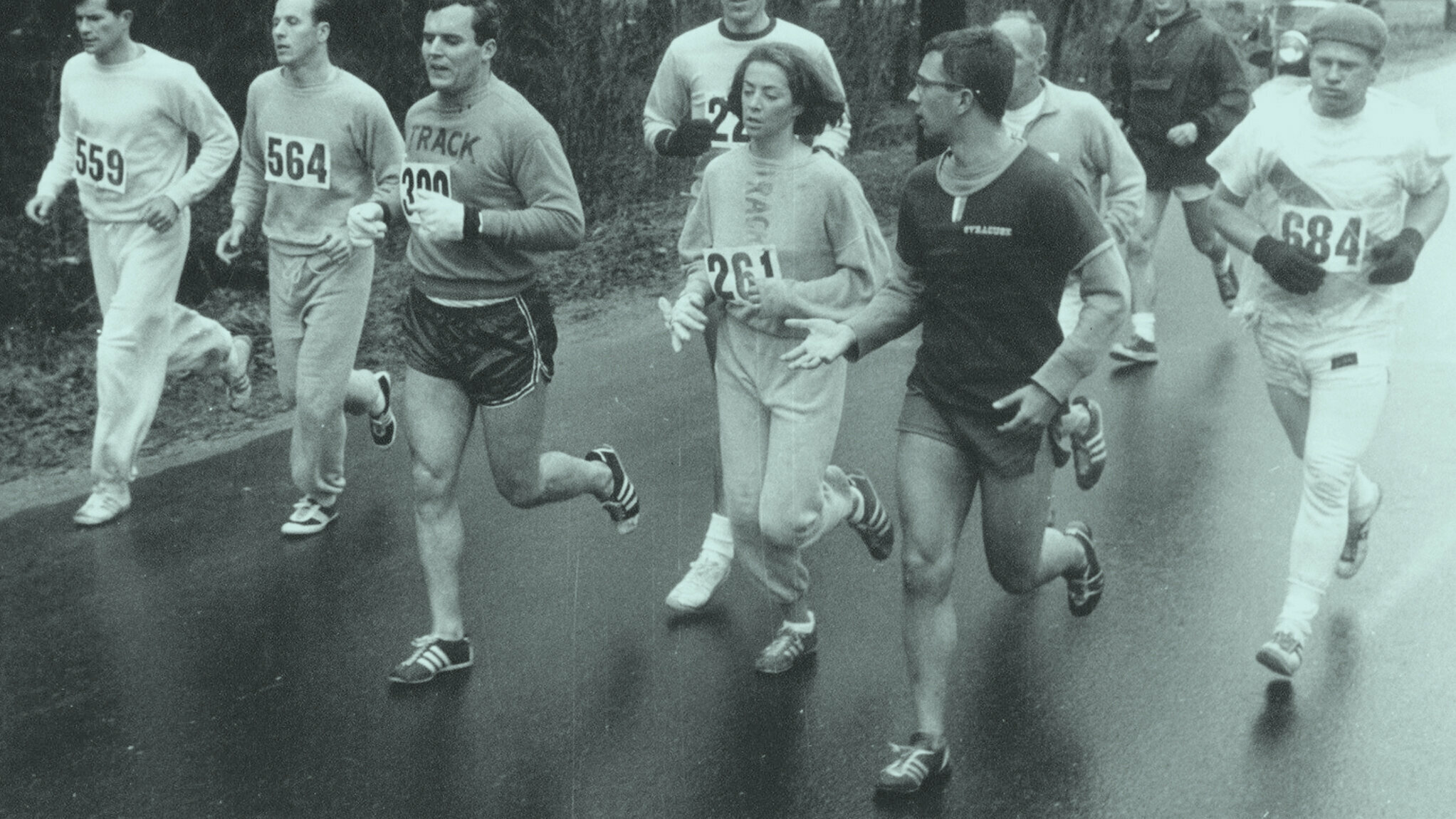 Kathrine Switzer. The first woman to run a marathon with a bib, Boston 1967.